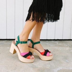 Loeffler Randall Elsa Platform Sandals 8.5